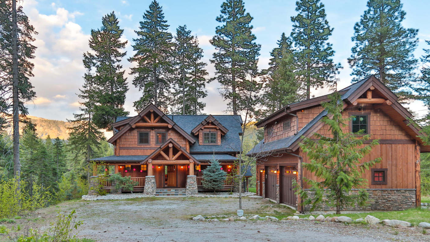 Photo gallery natural element homes for Big mountain lodge house plan