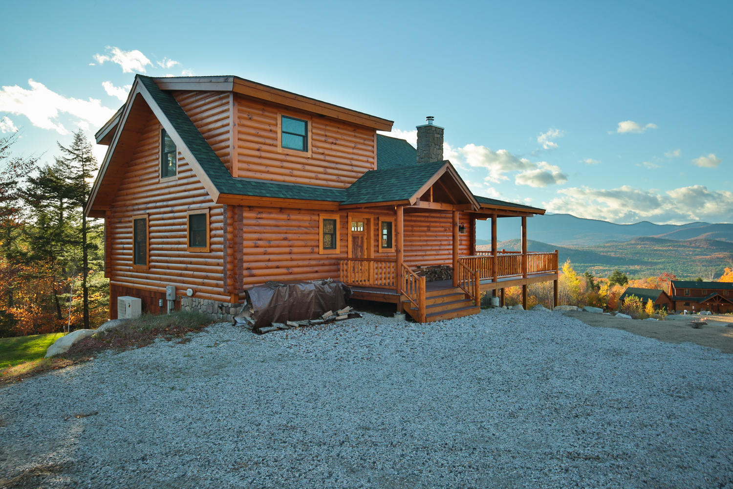 New hampshire log homes log cabins timber frame autos post for Home builders in new hampshire