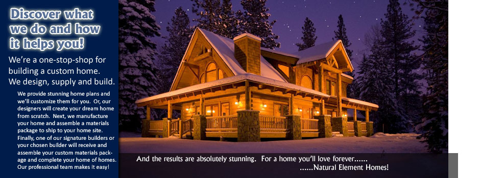 natural element homes: log cabins, log homes, timber frame homes