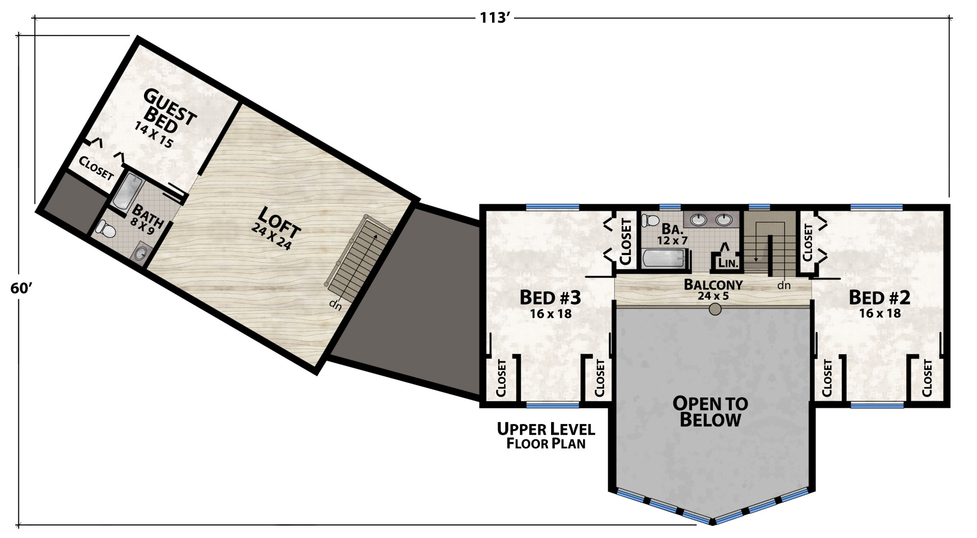 Black Bear Lodge Upper Floor Plan