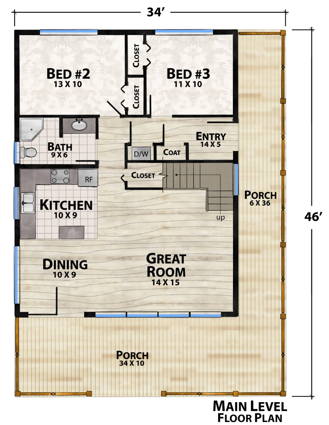Idaho Mountain Retreat Main Floor Plan by Natural Element Homes