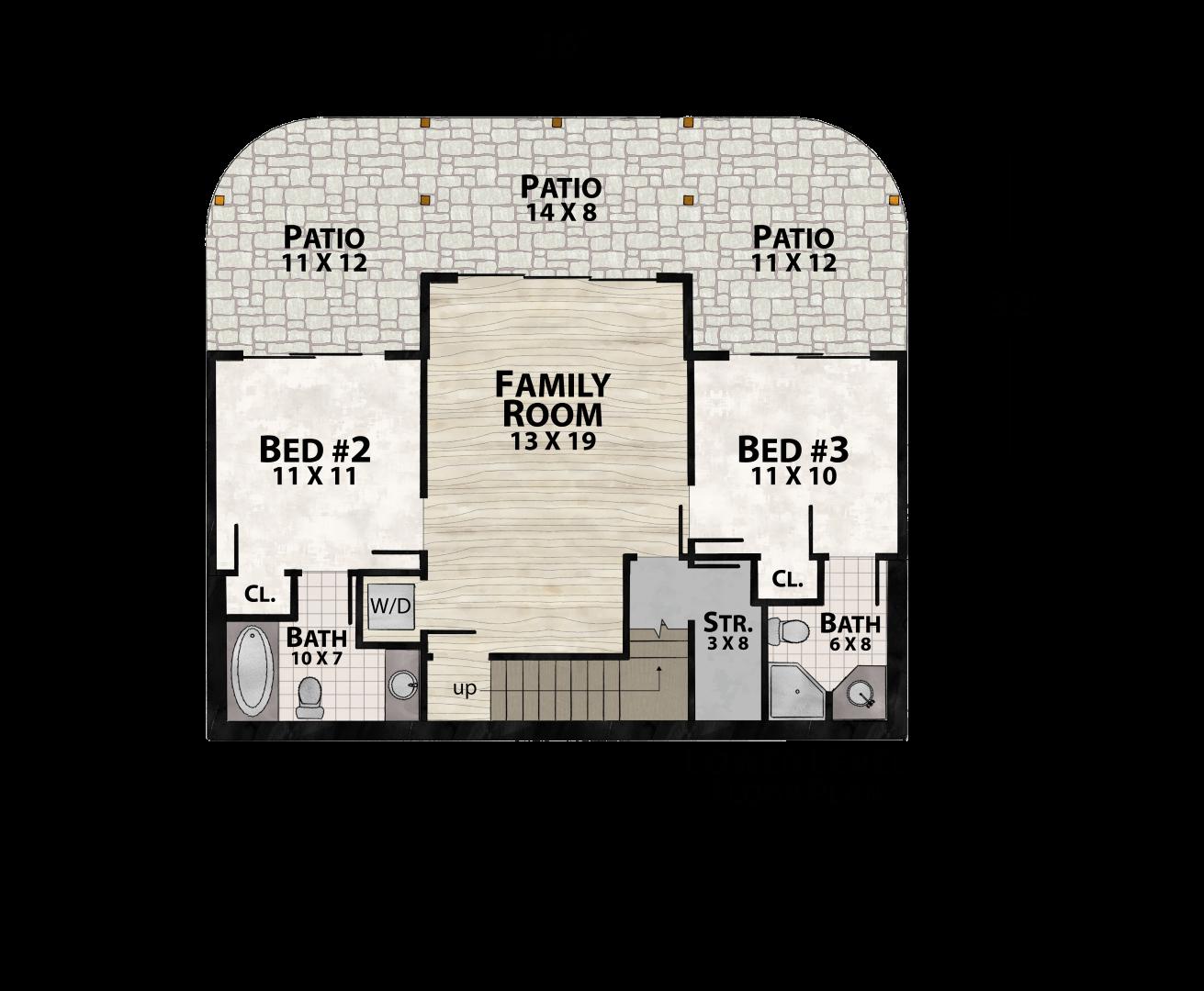 Modern Vista Lower Floor by Natural Element Homes