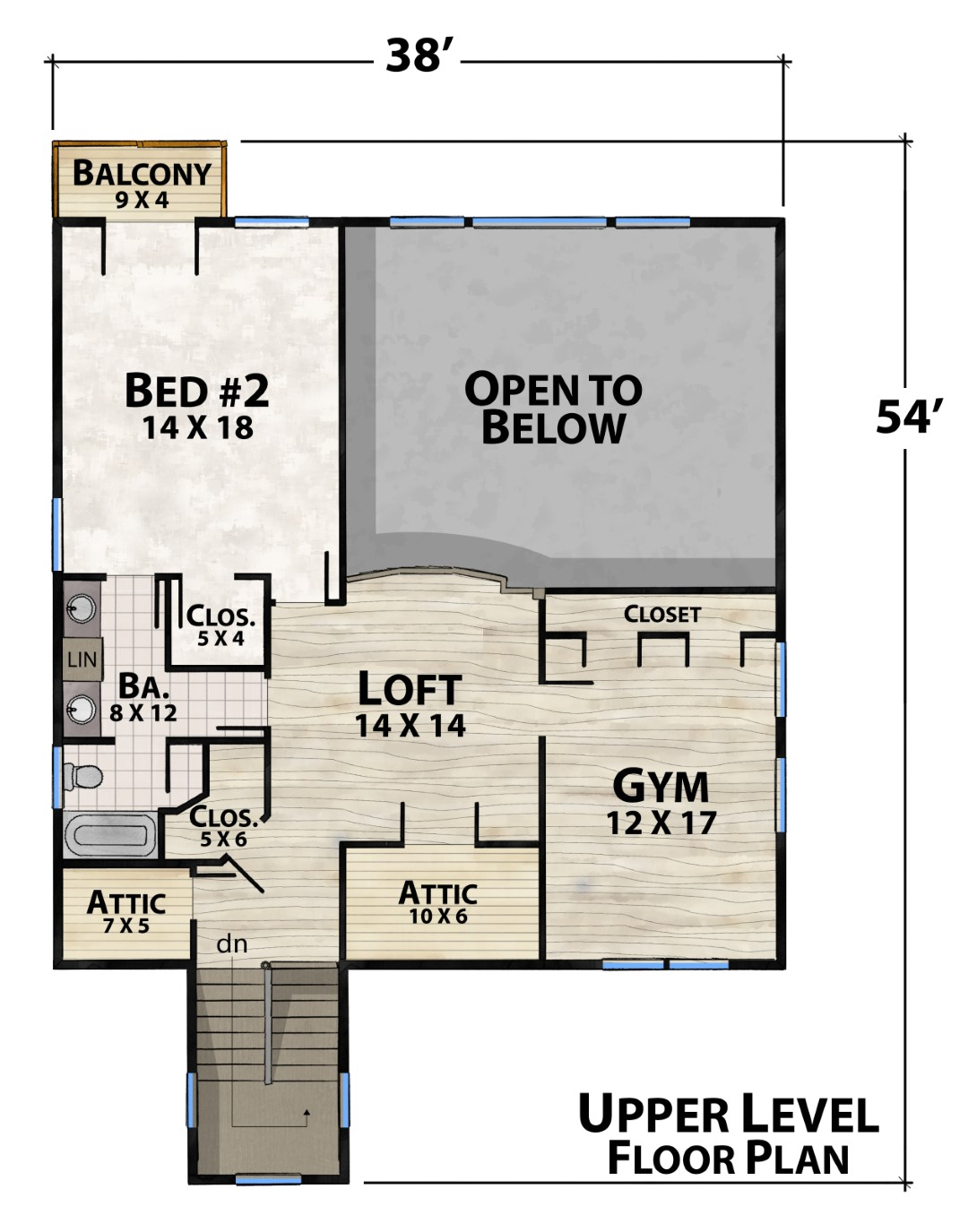 Rye Mountain Lodge Upper Floor Plan by Natural Element Homes