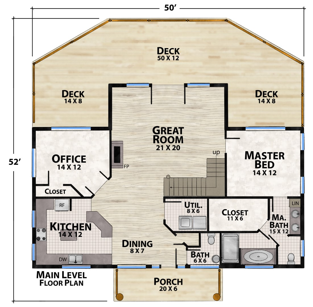 Starr Mountain Main Floor Plan by Natural Element Homes