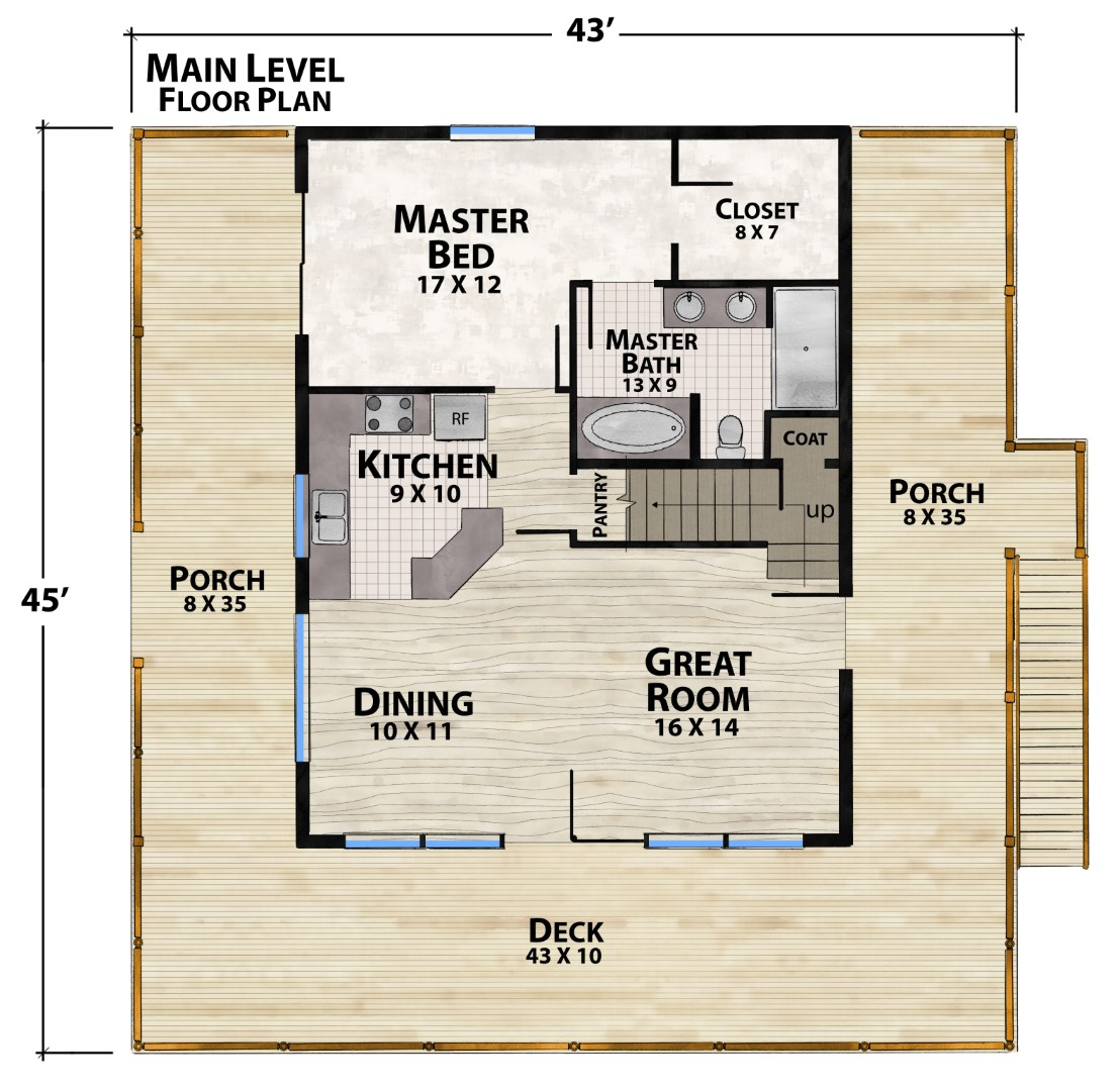 Tommy Toe Main Floor Plan by Natural Element Homes