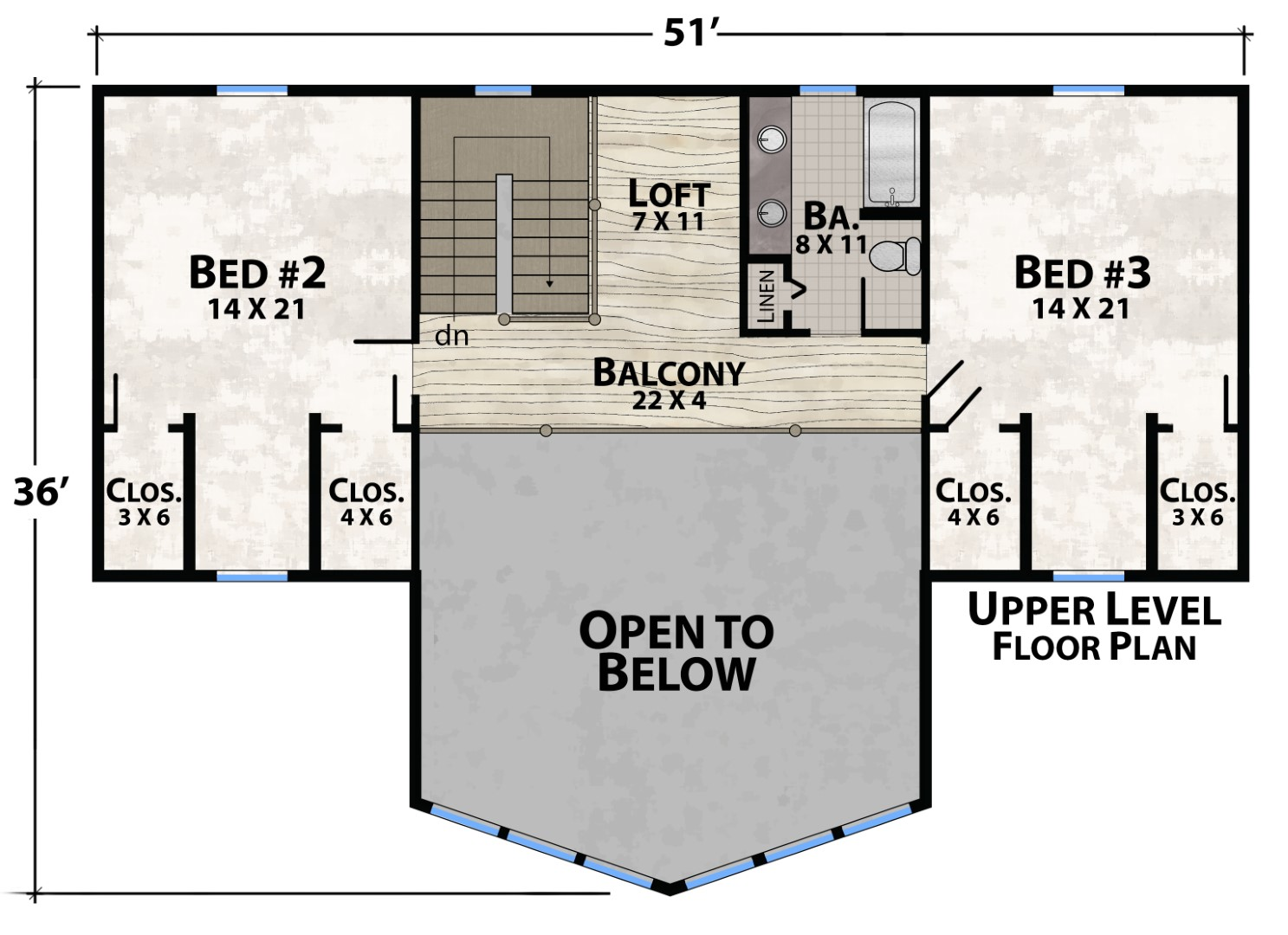 Tucked In Lodge Upper Floor Plan by Natural Element Homes