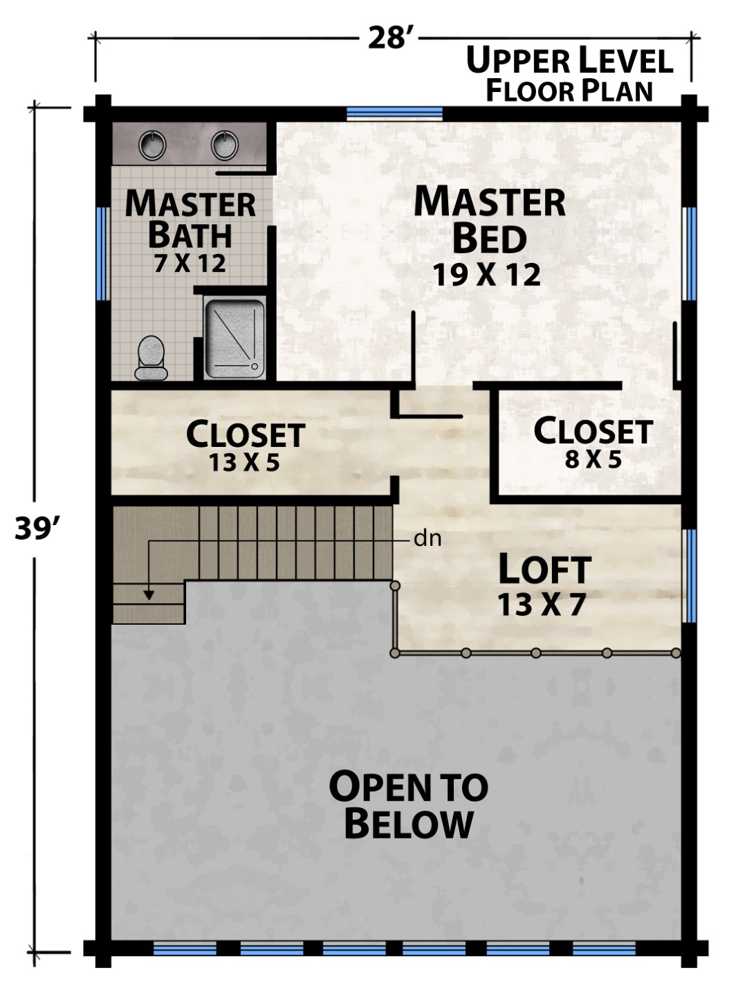 Vista View Camp Upper Floor Plan by Natural Element Homes