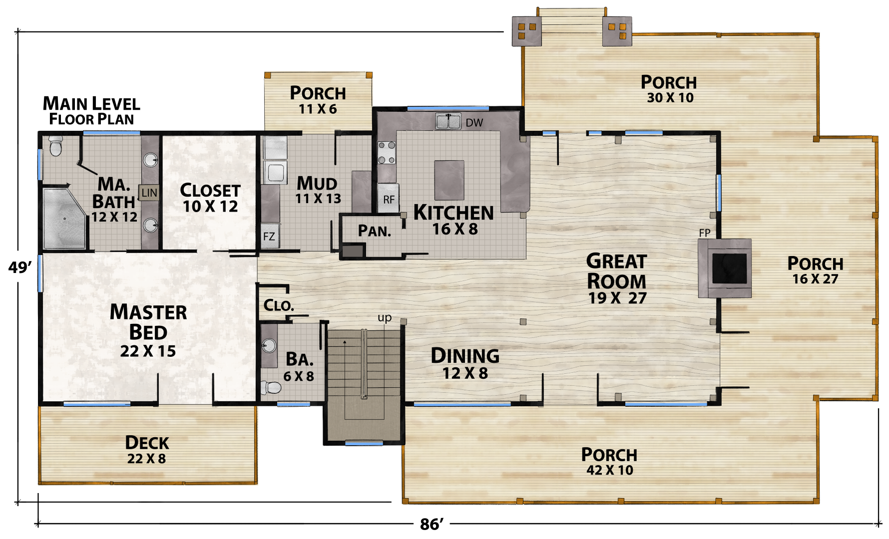 Ravens Nest North Main Floor Plan by Natural Element Homes