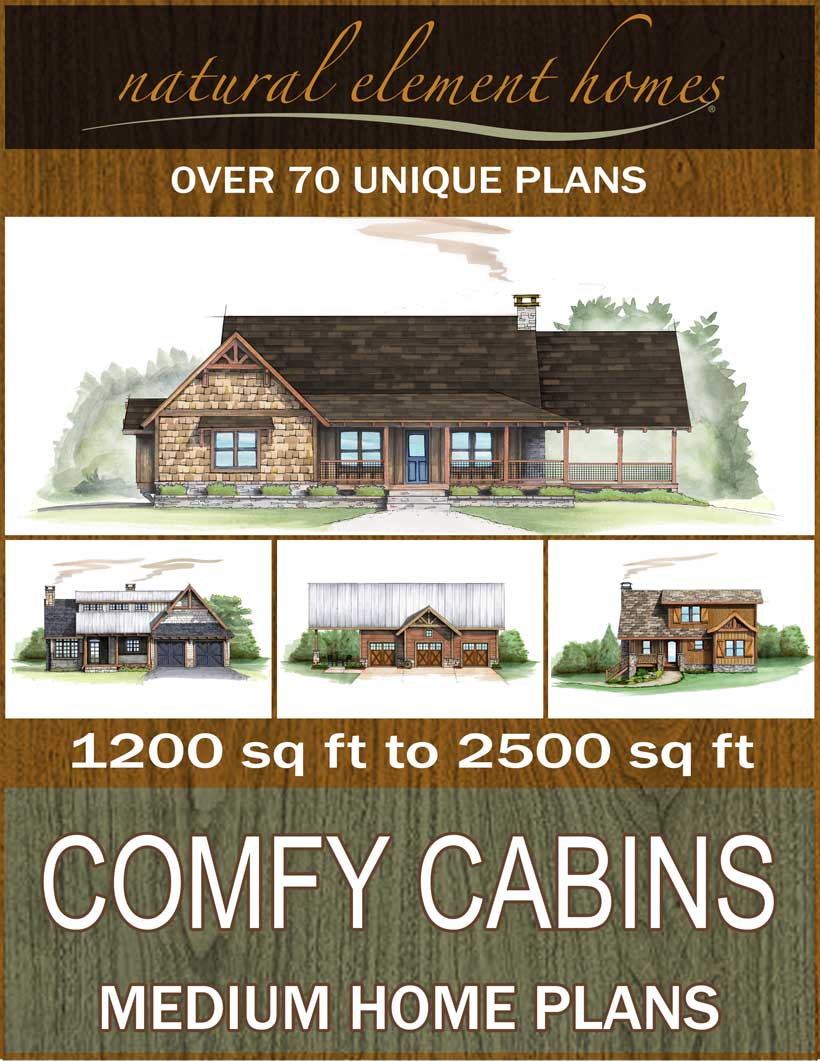 Comfy Cabins Free Home Plan Book from Natural Element Homes