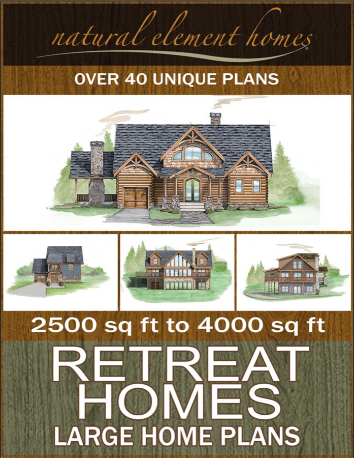 Retreat Homes Free Home Plan Book from Natural Element Homes